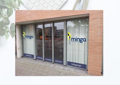 Ramen met reclame bij Bedrijfsmakelaar Minga