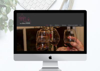 Website voor  Restaurant het Bolwerk in Sloten