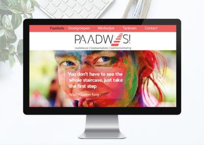Website voor Paadwiis, wegwijs in leren & ontwikkelen