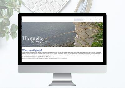 Website voor de schrijfster  Hanneke Dragtsma