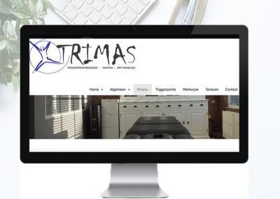 Website voor Massagepraktijk Trimas